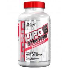 Nutrex Lipo 6 Stim-Free 120 жидких капс.