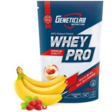 Genetic Lab Whey Pro 1 кг (клубника, карамель, шоколад, ваниль, банан-земляника)