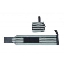 Be First Бинты кистевые черно-серые, 35 см (пара)(арт 667)