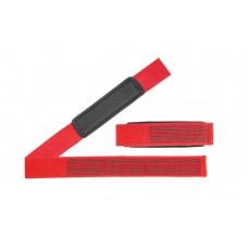 Be First Лямки для тяги, красные c силиконовыми вставками (арт 641-3)